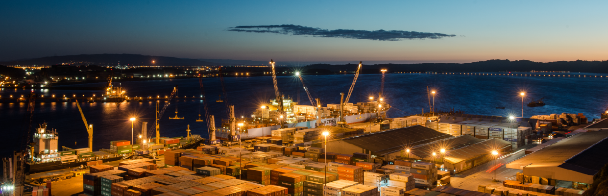 Puertos del Biobío amplían capacidad y suman obras por US$ 245 millones  La región mueve al año unos 20 millones de toneladas de carga, y busca adaptarse al arribo de buques más grandes, de hasta 300 metros, que mueven fundamentalmente contenedores.