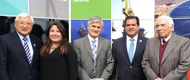 Presidente Y Vicepresidente de CAMPORT asisten a la inauguración de nuevo edificio de Puerto Ventanas