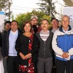 Cecilia Alcocer junto a trabajadores del sector marítimo-portuario