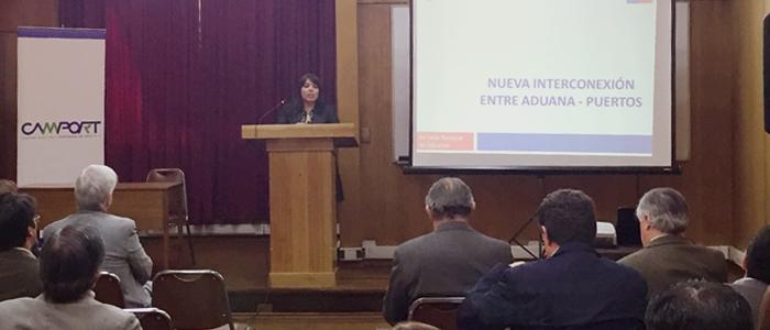 Exposición de la Subdirección Técnica de Aduanas para socios de Camport sobre Resolución 5.394/2014 Conexión Aduana – Puertos