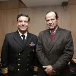 CA LT Otto Mrugalski, Director de Intereses Marítimos y Medio Ambiente Acuático Directemar;  y Eduardo Astorga, Asesor Jurídico del CPI