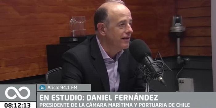 Daniel Fernández conversa sobre el régimen laboral portuario en Radio Infinita