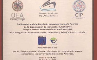 Puerto Ventanas S.A. fue reconocido por la OEA como modelo de gestión en la vinculación puerto-ciudad